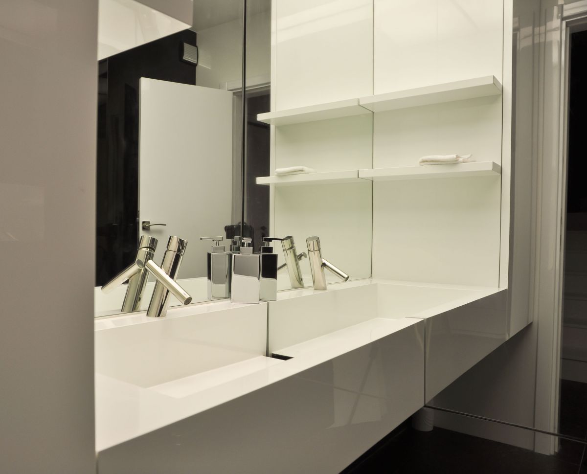 Bathroom, Sink, Apartment Interior by Jovo Bozhinovski