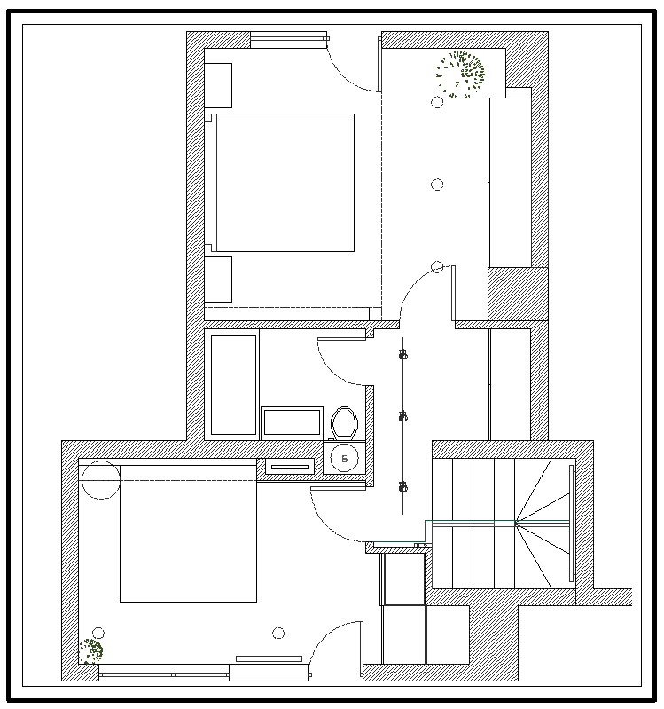 Floor Plan, Apartment Interior by Jovo Bozhinovski