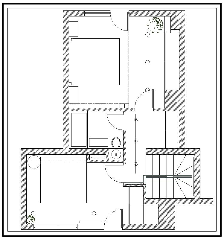Floor Plan, Apartment Interior by Jovo Bozhinovski
