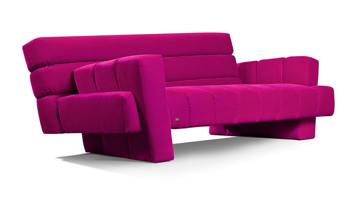 confucius sofa by alexander nettesheim for bretz home. Black Bedroom Furniture Sets. Home Design Ideas