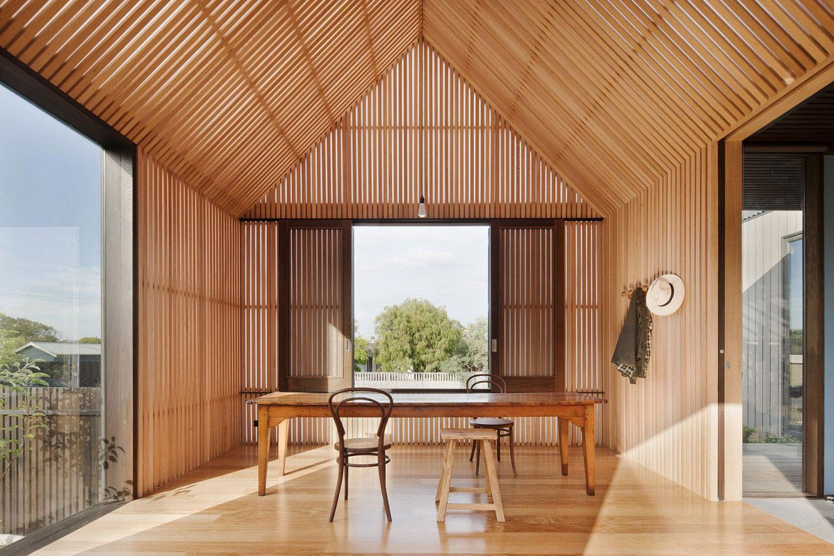 Dining Space, Seaview House in Barwon Heads, Australia by Jackson Clements Burrows