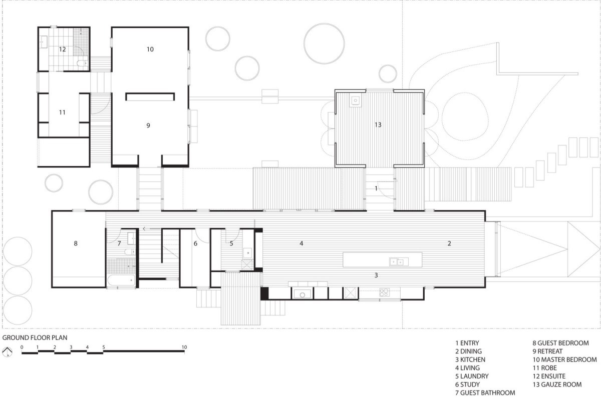 Ground Floor Plan, Seaview House in Barwon Heads, Australia by Jackson Clements Burrows