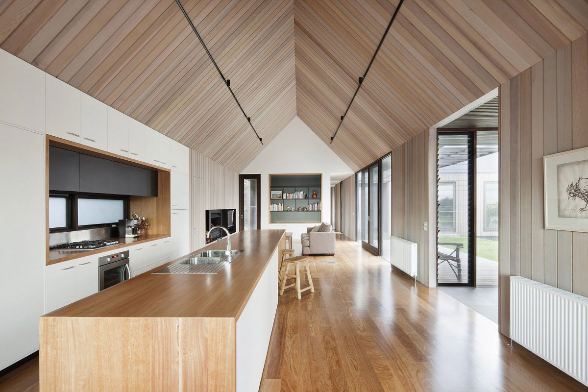Kitchen Island, Seaview House in Barwon Heads, Australia by Jackson Clements Burrows