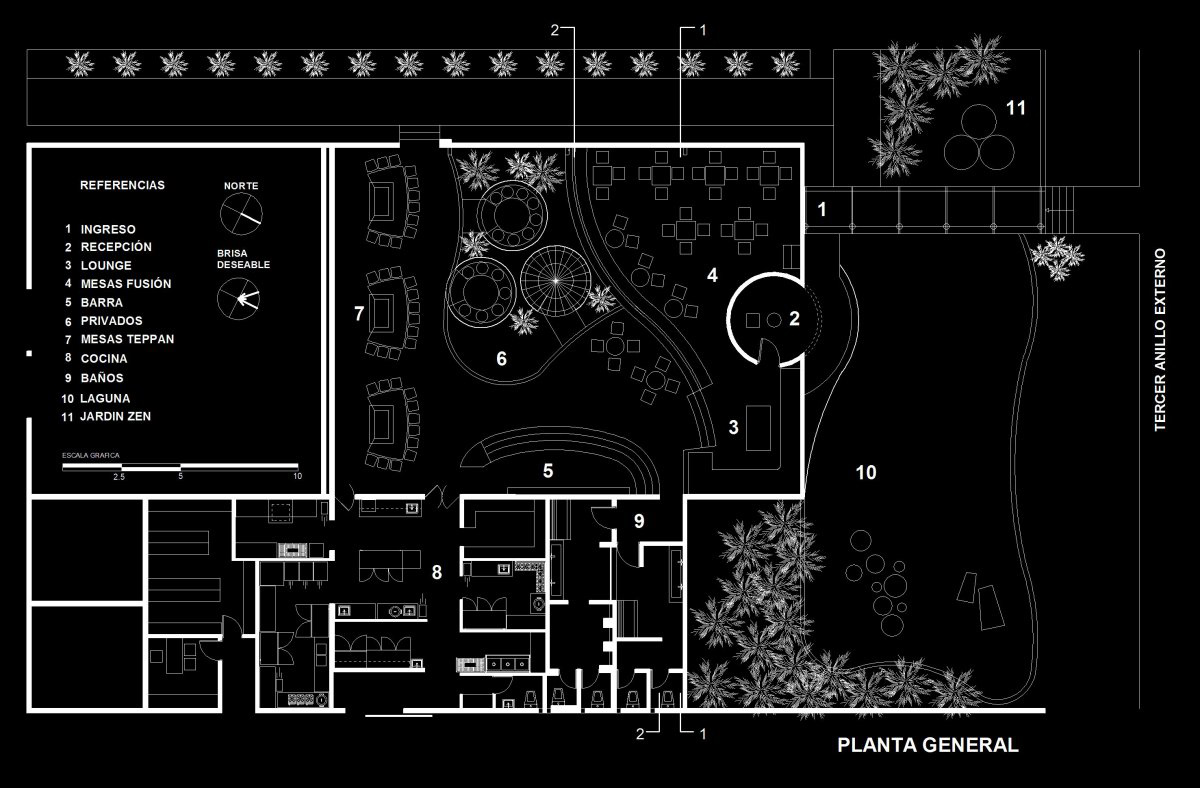 Floor Plan, Jardín del Asia Restaurant, Santa Cruz de la Sierra, Bolivia