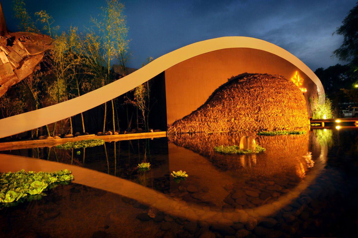 Water Feature, Architecture, Jardín del Asia Restaurant, Santa Cruz de la Sierra, Bolivia