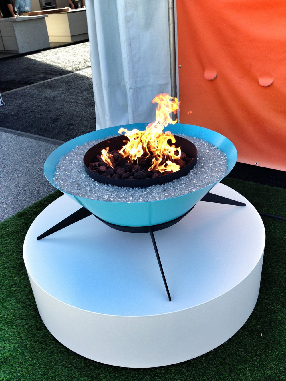 Blue Outdoor Fireplace, Astrofire by Modfire