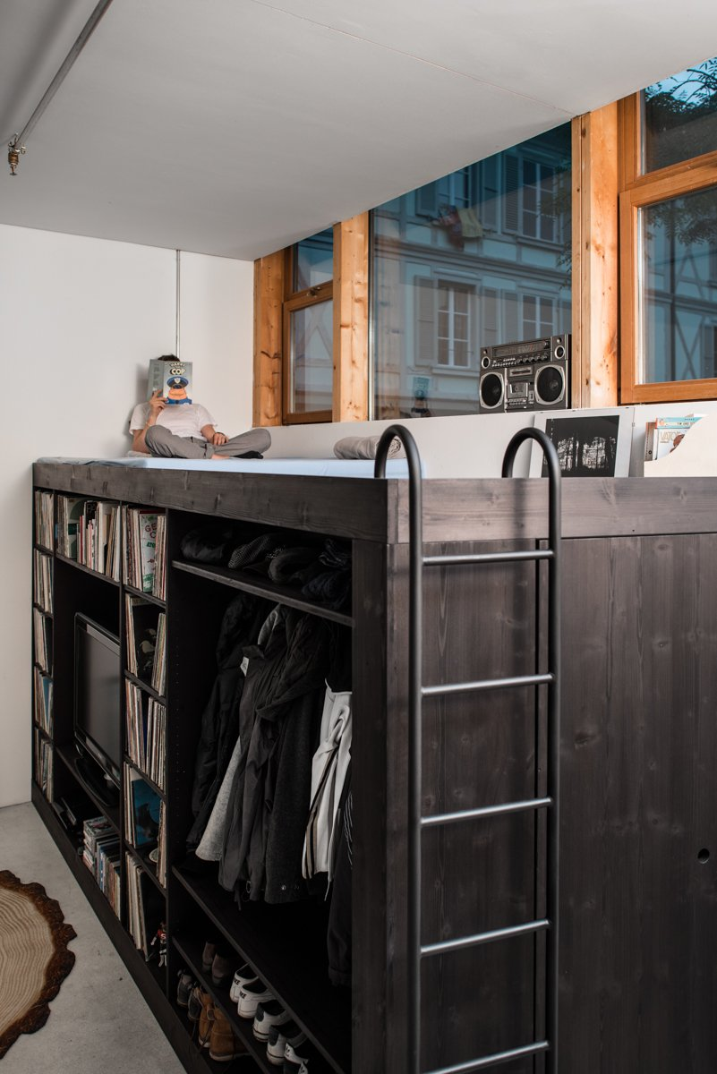 Bed, Storage Solution for Small Apartments