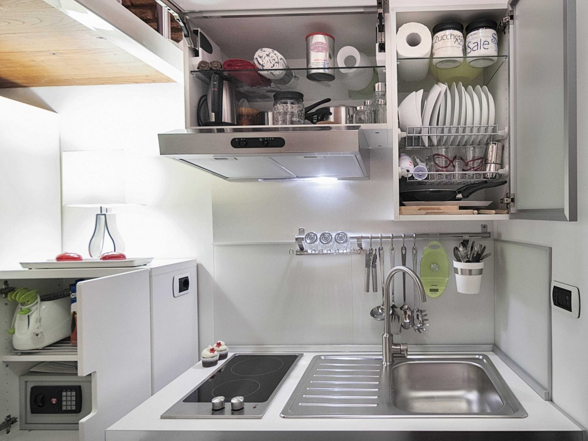 Compact Kitchen, Tiny House in Rome