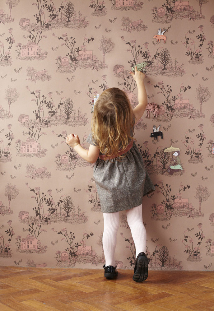 Girl Playing, Magnetic Woodlands Wallpaper by Sian Zeng