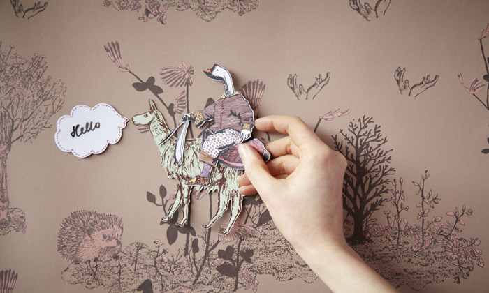 magnetic wallpaper by sian zeng home inspiration. Black Bedroom Furniture Sets. Home Design Ideas