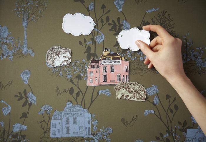 Hedgehog, Magnetic Woodlands Wallpaper by Sian Zeng