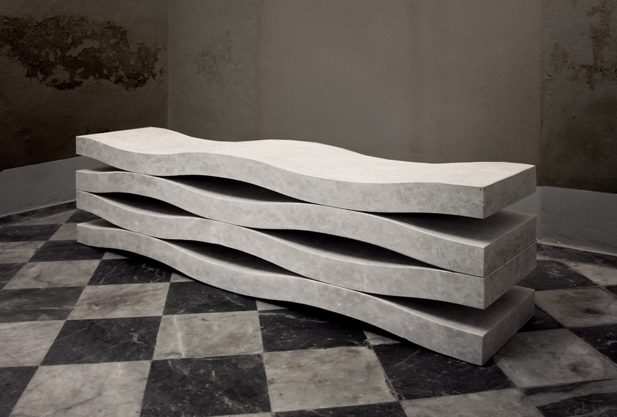 Marble Block Home : Marble bench cut from a single block home inspiration