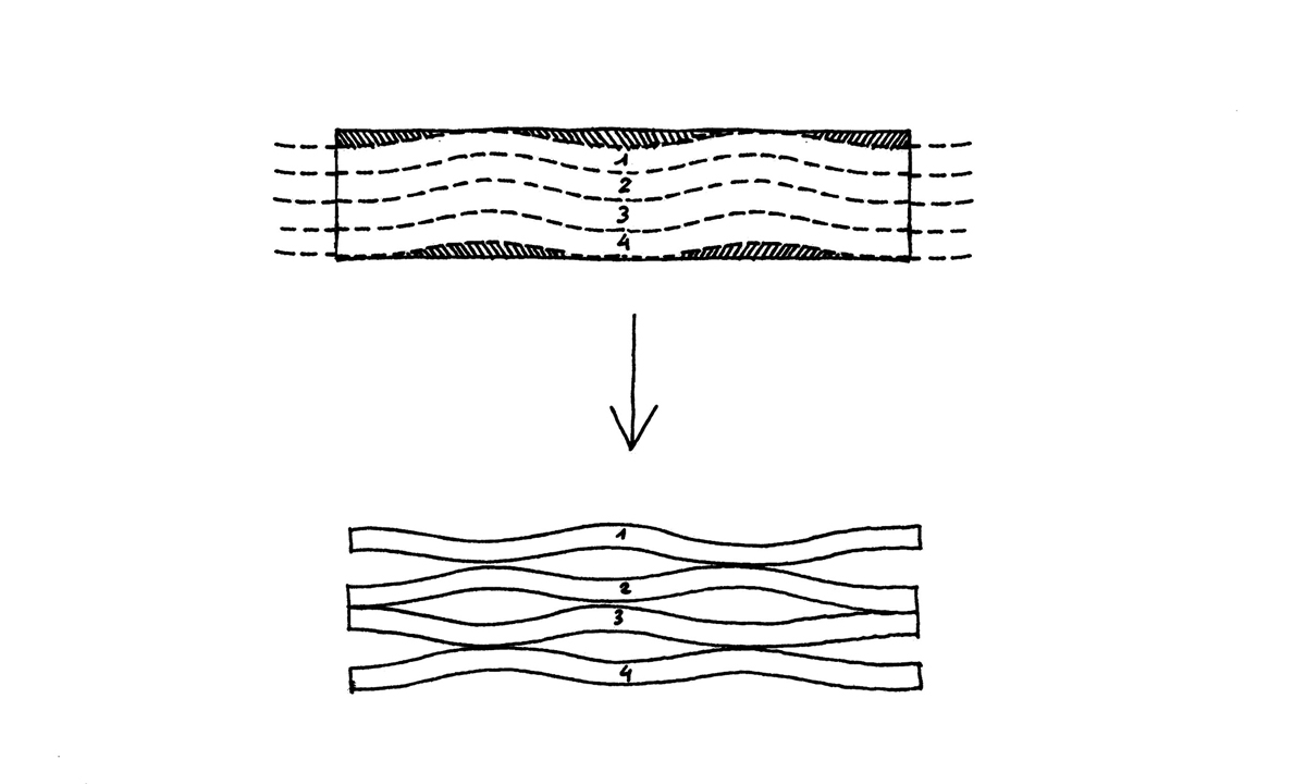 Diagram, Marble Bench Cut from a Single Block