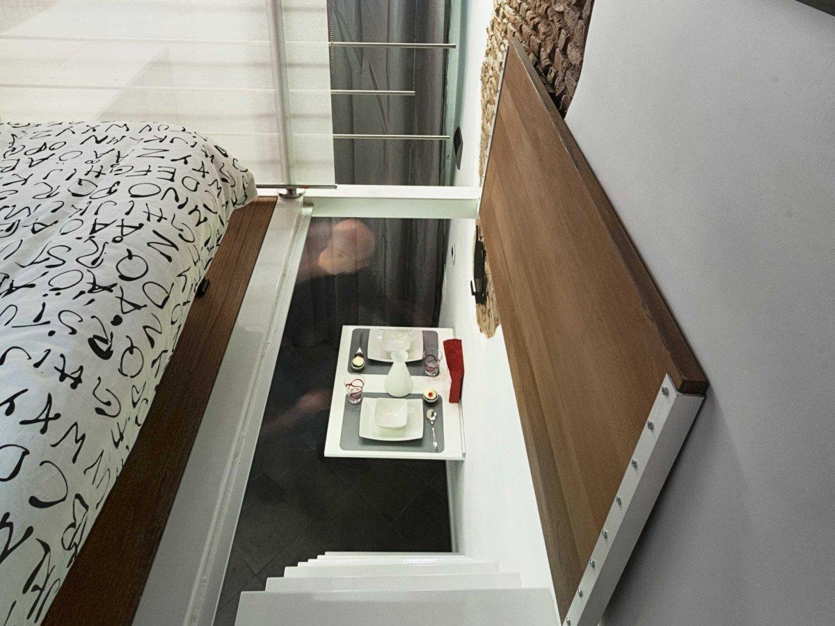 Trapdoor, Bedroom, Tiny House in Rome