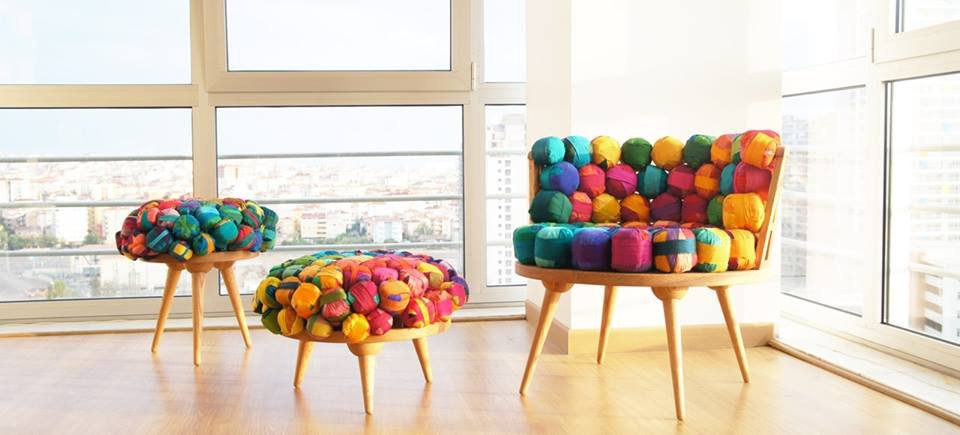 Colorful recycled furniture home inspiration for Recycling furniture decorating ideas