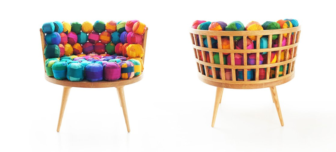 Colorful Recycled Furniture