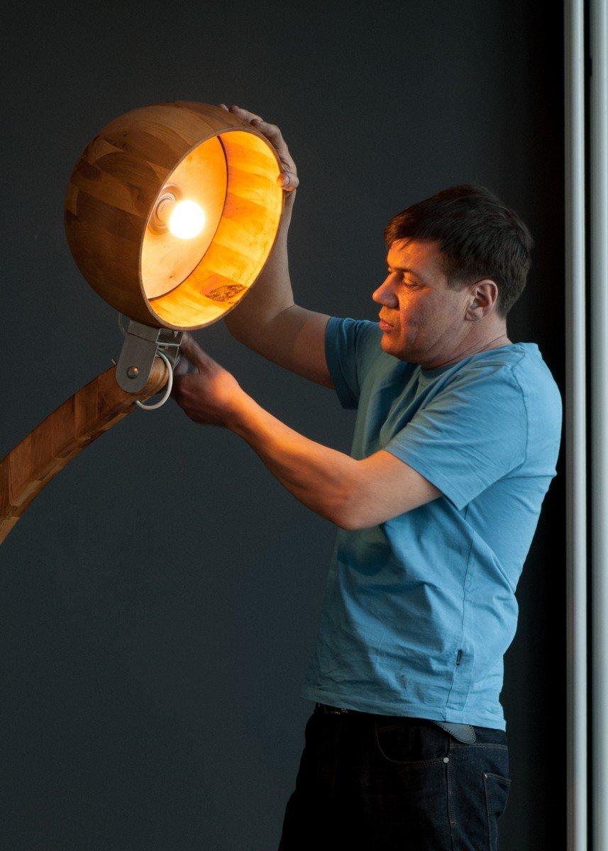 Woobia Wooden Floor Lamp