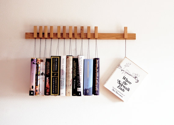 Custom Hanging Book Rack