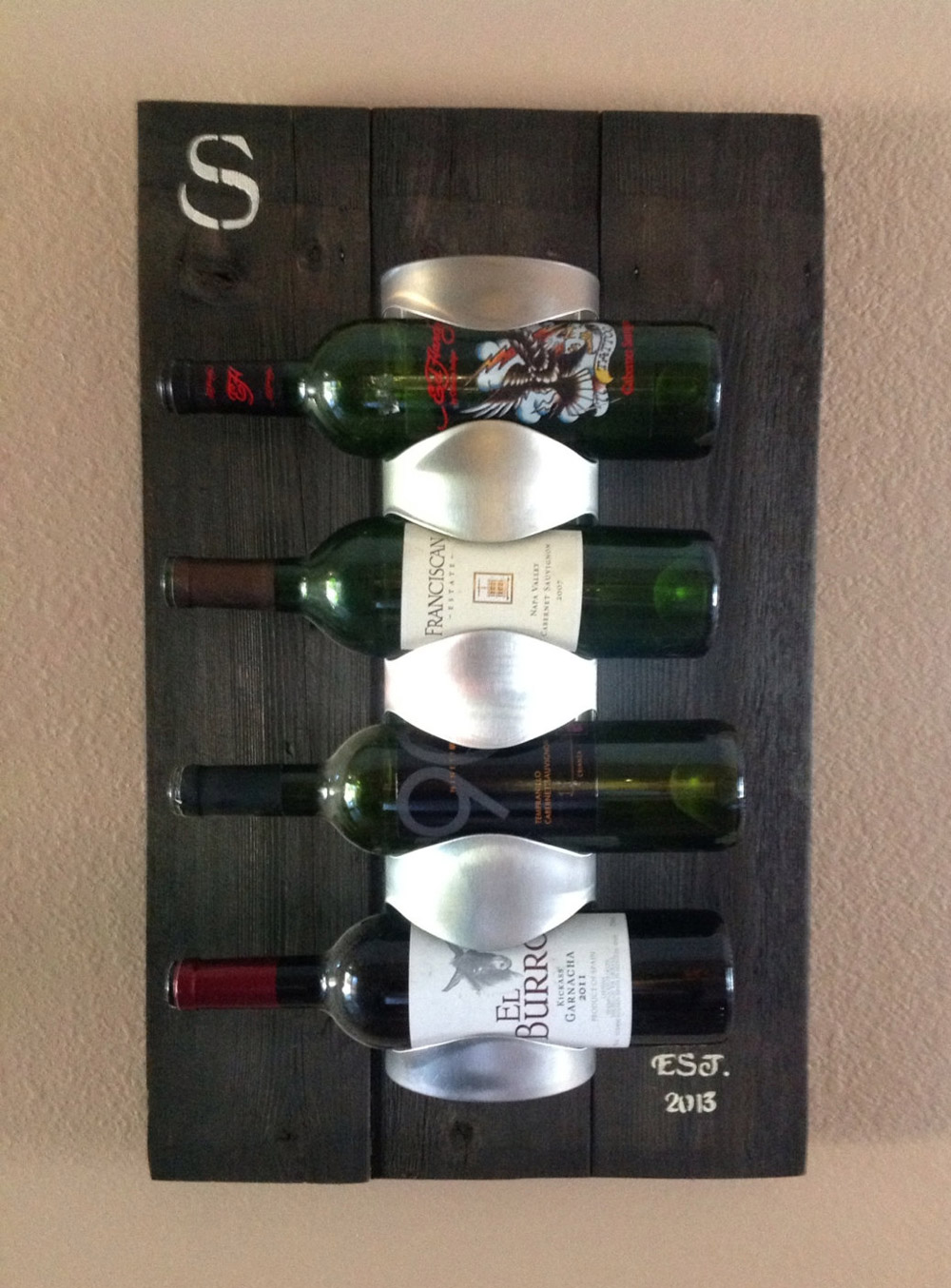 Personalized Reclaimed Wood Wine Rack