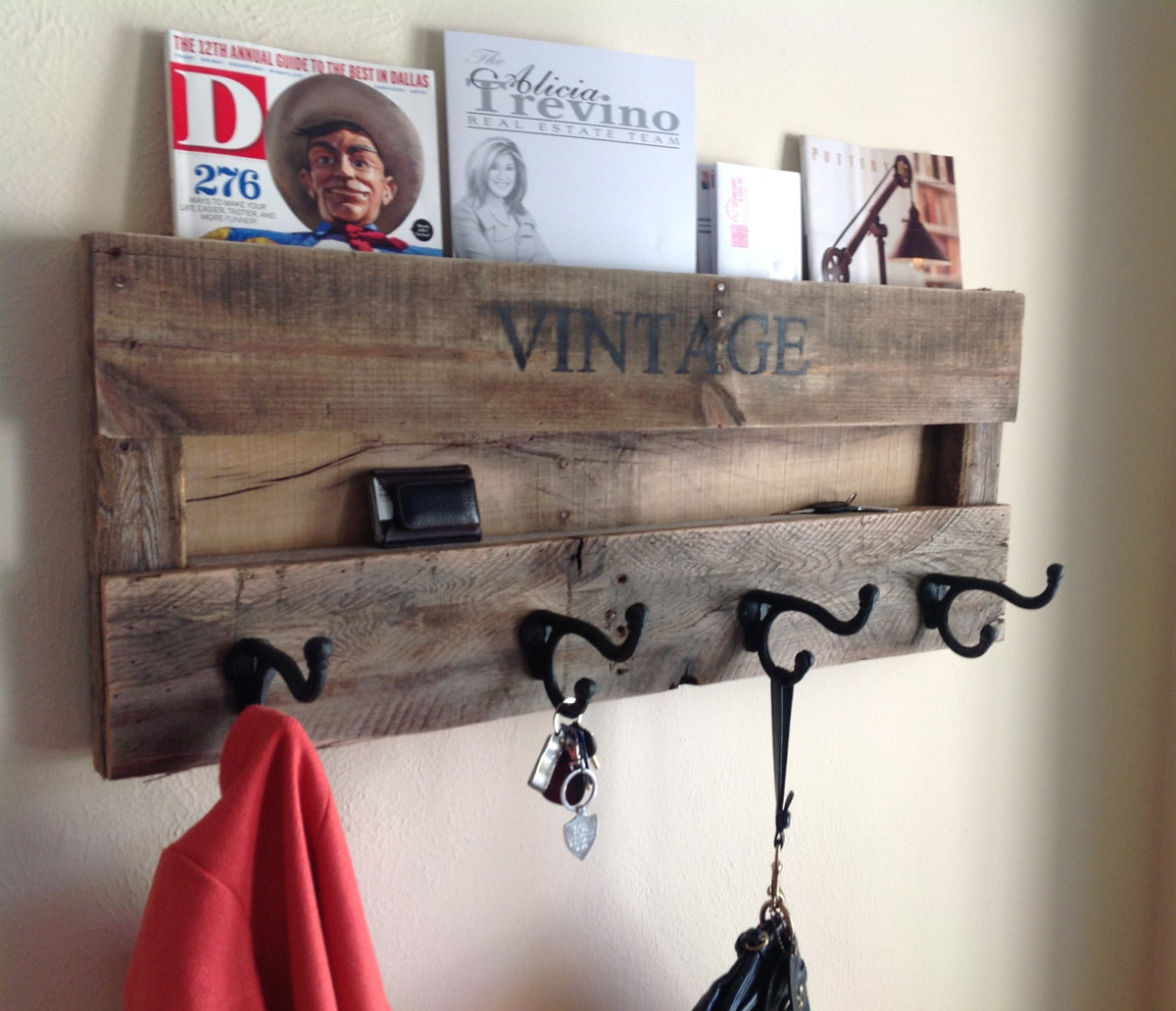 Reclaimed Wood Rustic Coat Rack Copper Hooks Hat Hook - Reclaimed Wood Coat Rack Uk - Tradingbasis