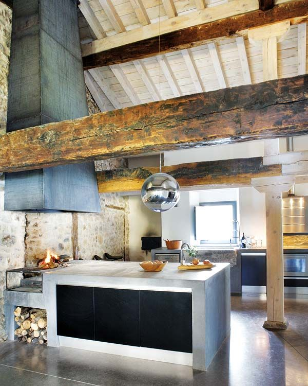 Rustic, Industrial, and Modern Kitchen