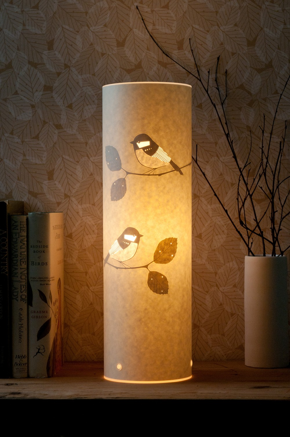 Tall Coal Tit Table Lamp