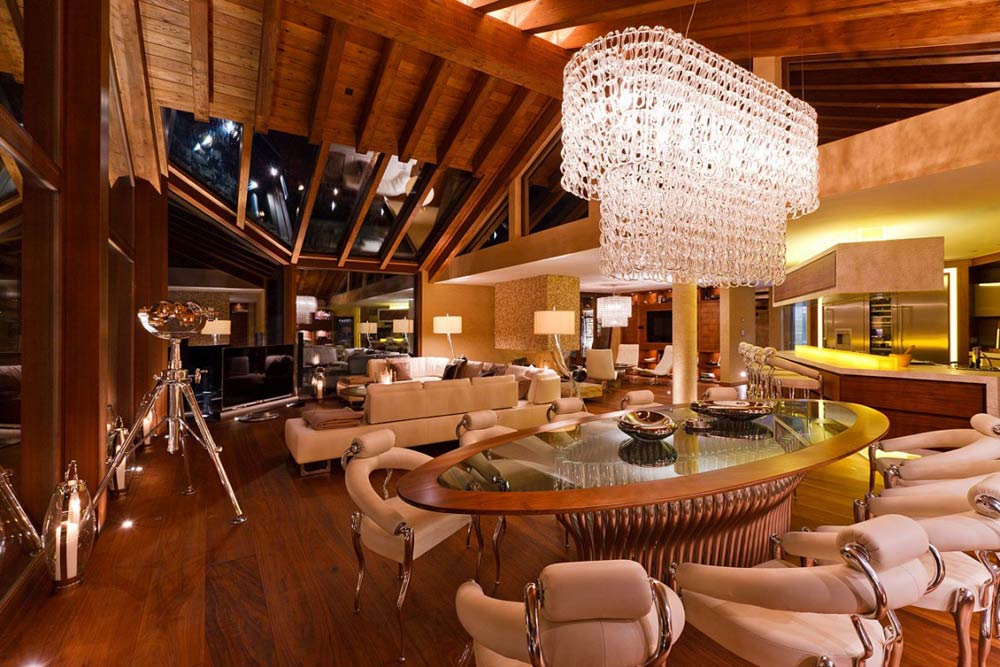 Dining Space, Luxury Boutique Chalet in Zermatt