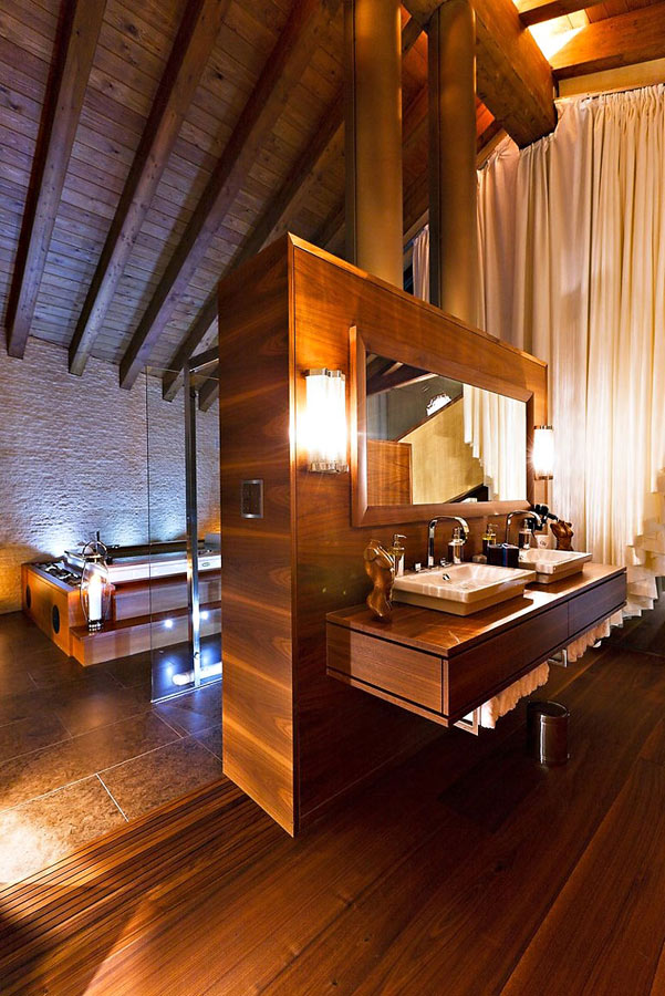 Bathroom, Luxury Boutique Chalet in Zermatt
