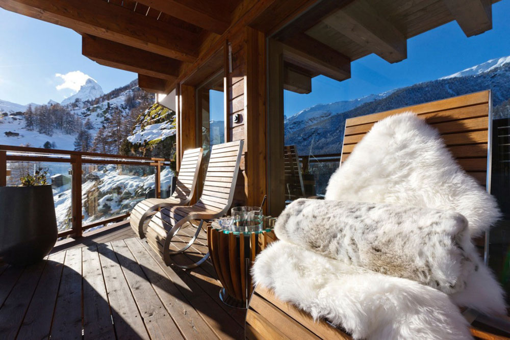 Balcony, Luxury Boutique Chalet in Zermatt