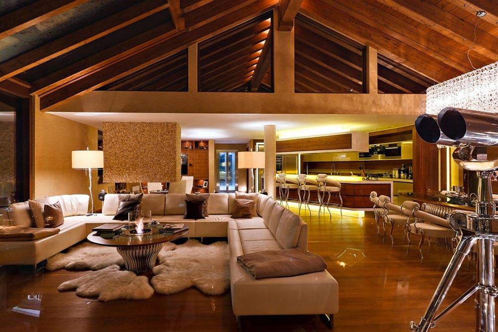 Living Room, Luxury Boutique Chalet in Zermatt