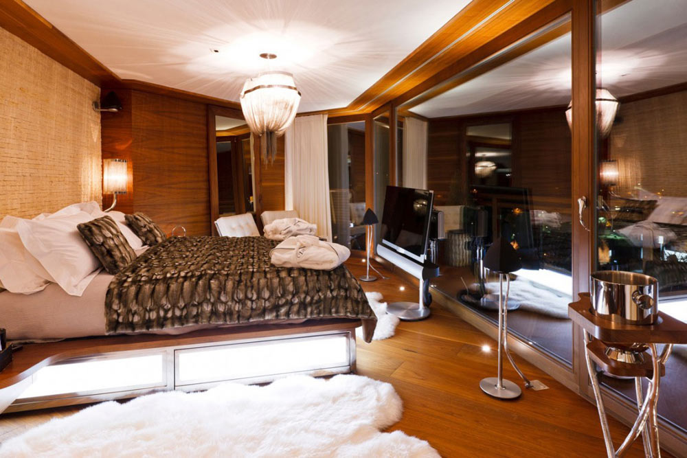 Bedroom, Luxury Boutique Chalet in Zermatt