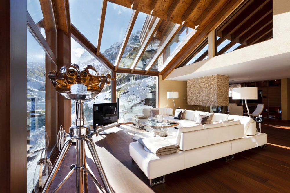 Sofas, Living Space, Luxury Boutique Chalet in Zermatt