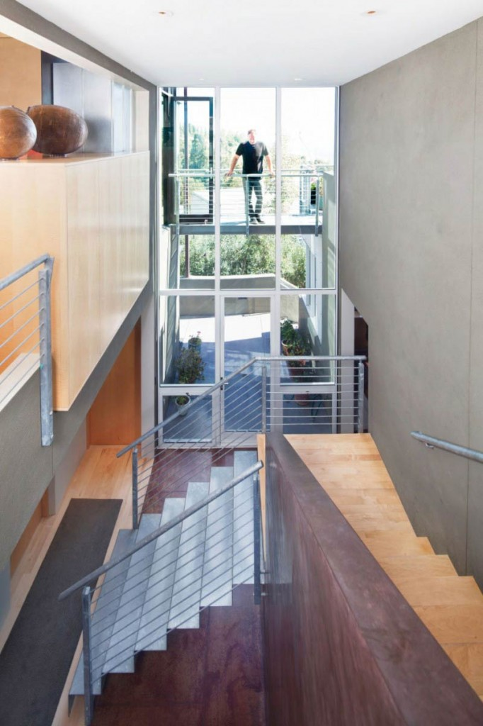 Stairs, Modern Home in Berkeley, California