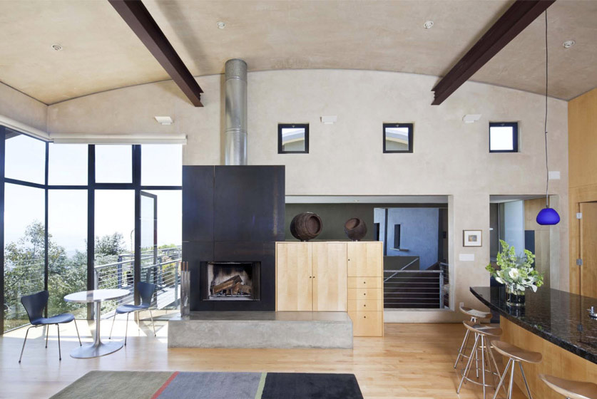 Living Room, Modern Home in Berkeley, California