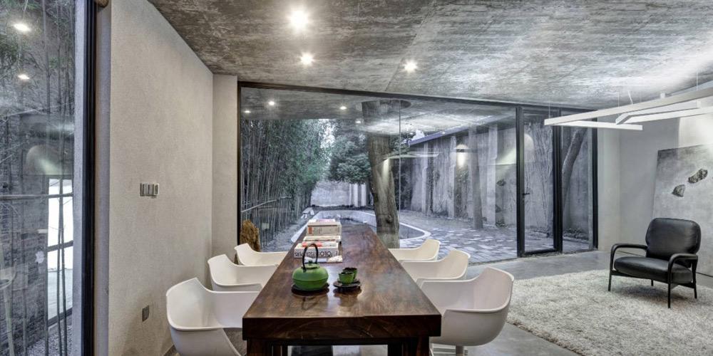 Table, Tea House in Yangpu District, Shanghai, China