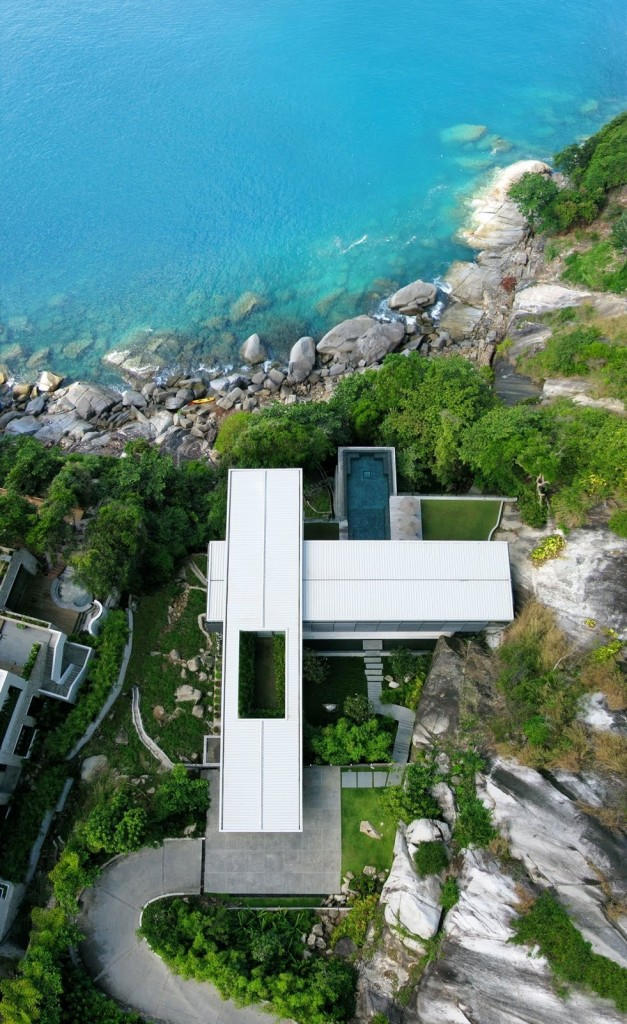 View from the Air, Villa Amanzi, Phuket,Thailand