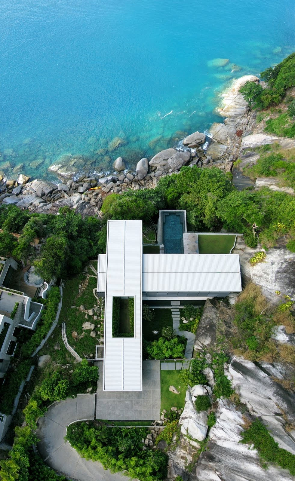 View from the Air, Villa Amanzi, Phuket,Thailand