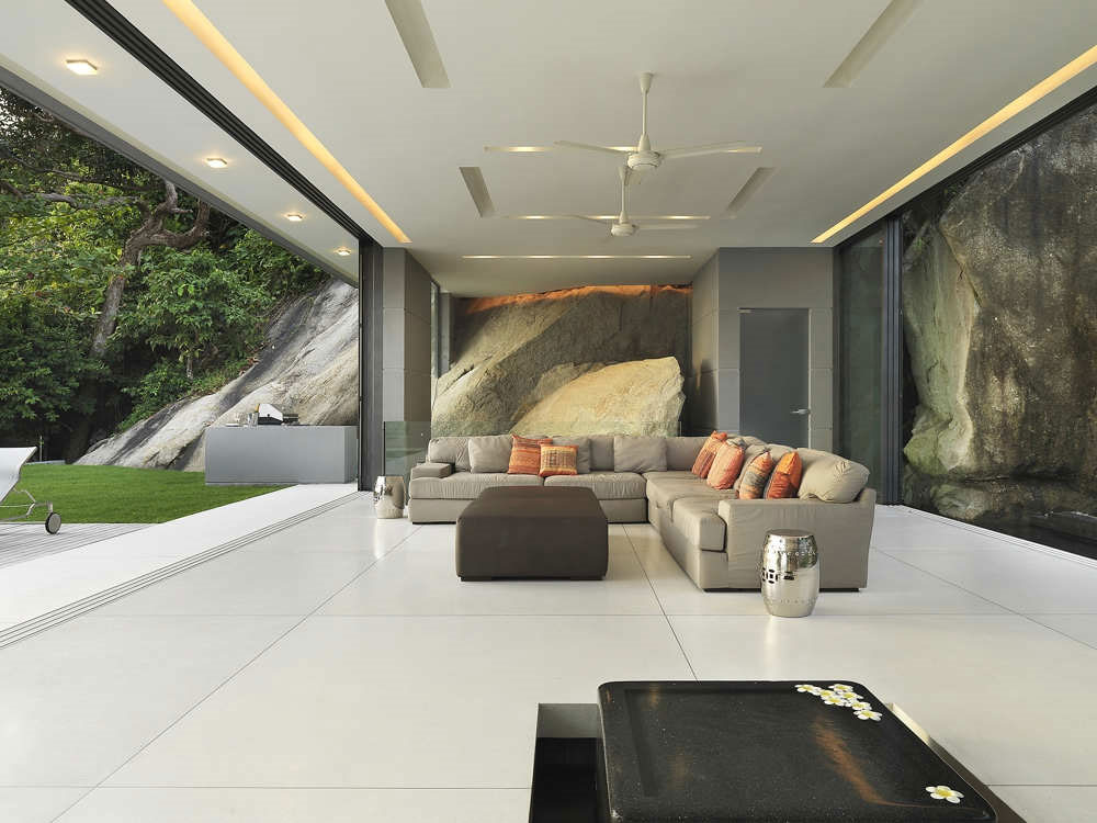 Living Space, Natural Rock, Villa Amanzi, Phuket,Thailand