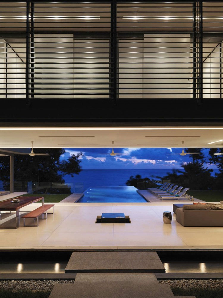 Evening, Living Space, Pool, Villa Amanzi, Phuket,Thailand
