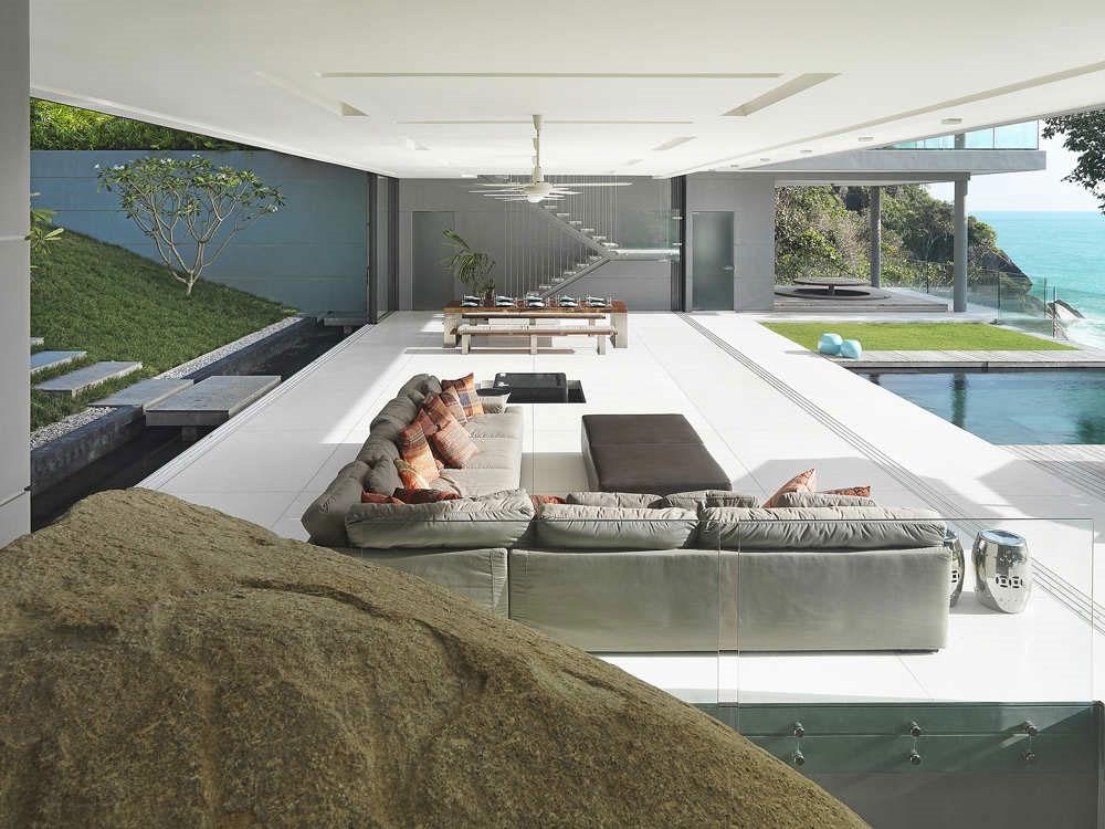 Living Space, Natural Rock, Villa Amanzi, Phuket,Thailand