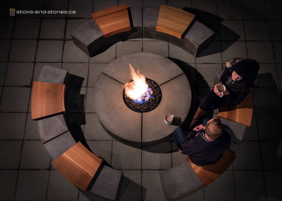 Social Circle Firepit by Sticks+Stones