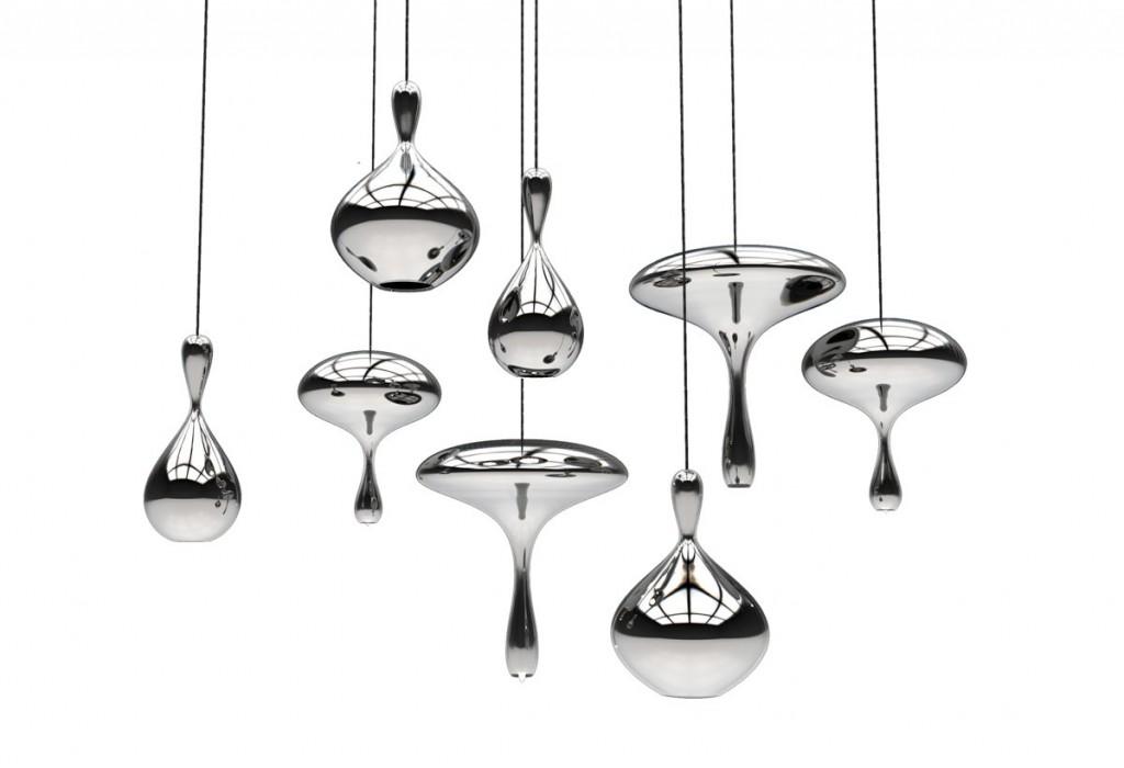Mirrored Glass Lava Drops