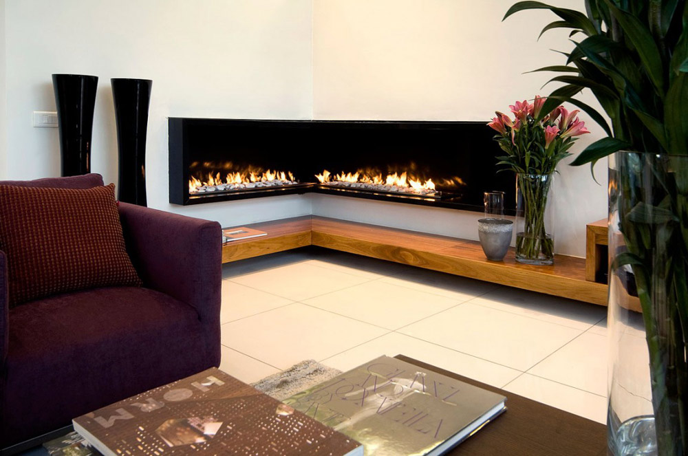 Fireplace, Exquisite Modern Home in Cape Town