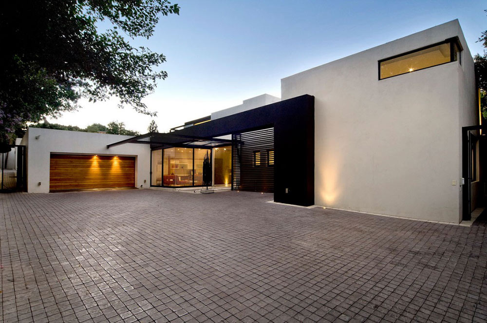 Driveway, Exquisite Modern Home in Cape Town
