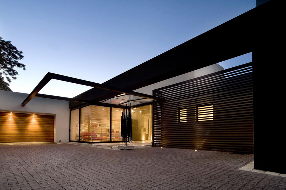 Evening, Garage, Driveway, Exquisite Modern Home in Cape Town