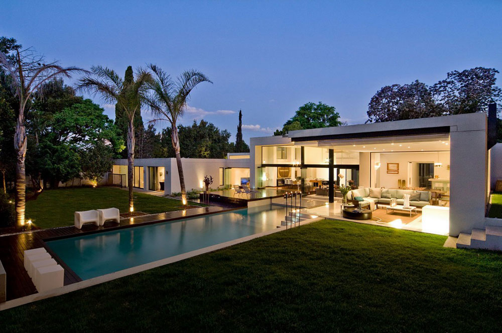 Lighting, Pool, Evening, Exquisite Modern Home in Cape Town
