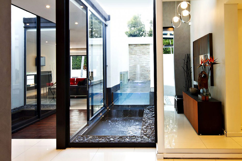 Water Feature, Exquisite Modern Home in Cape Town