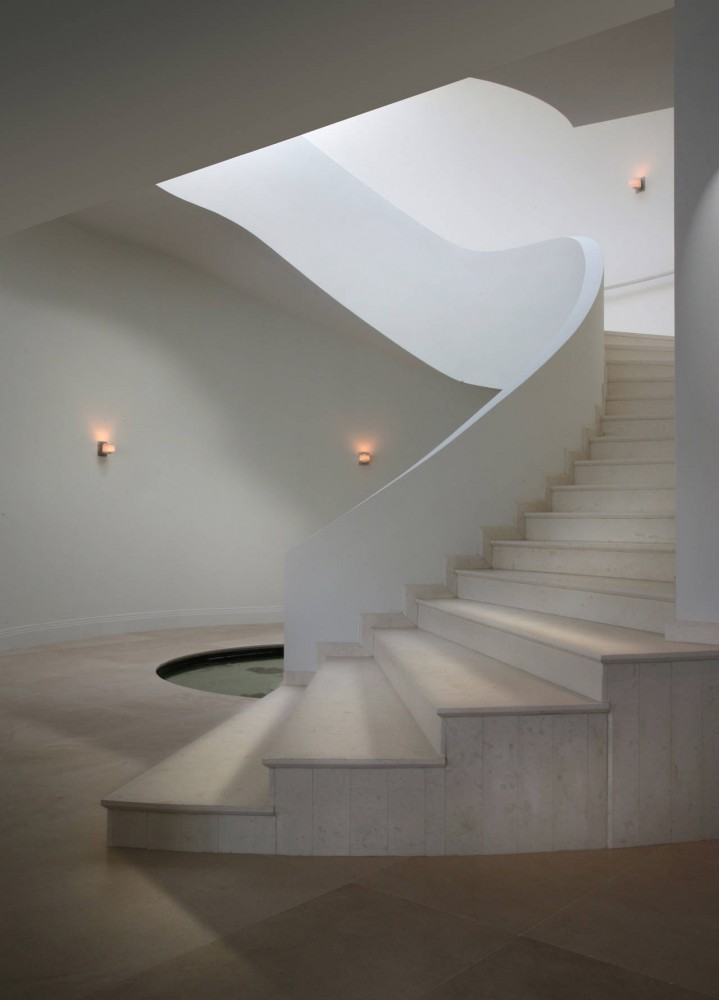 Modern Stairs, Contemporary Home in Miami Beach, Florida