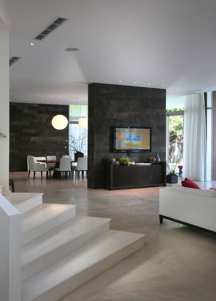 Living Room, Contemporary Home in Miami Beach, Florida