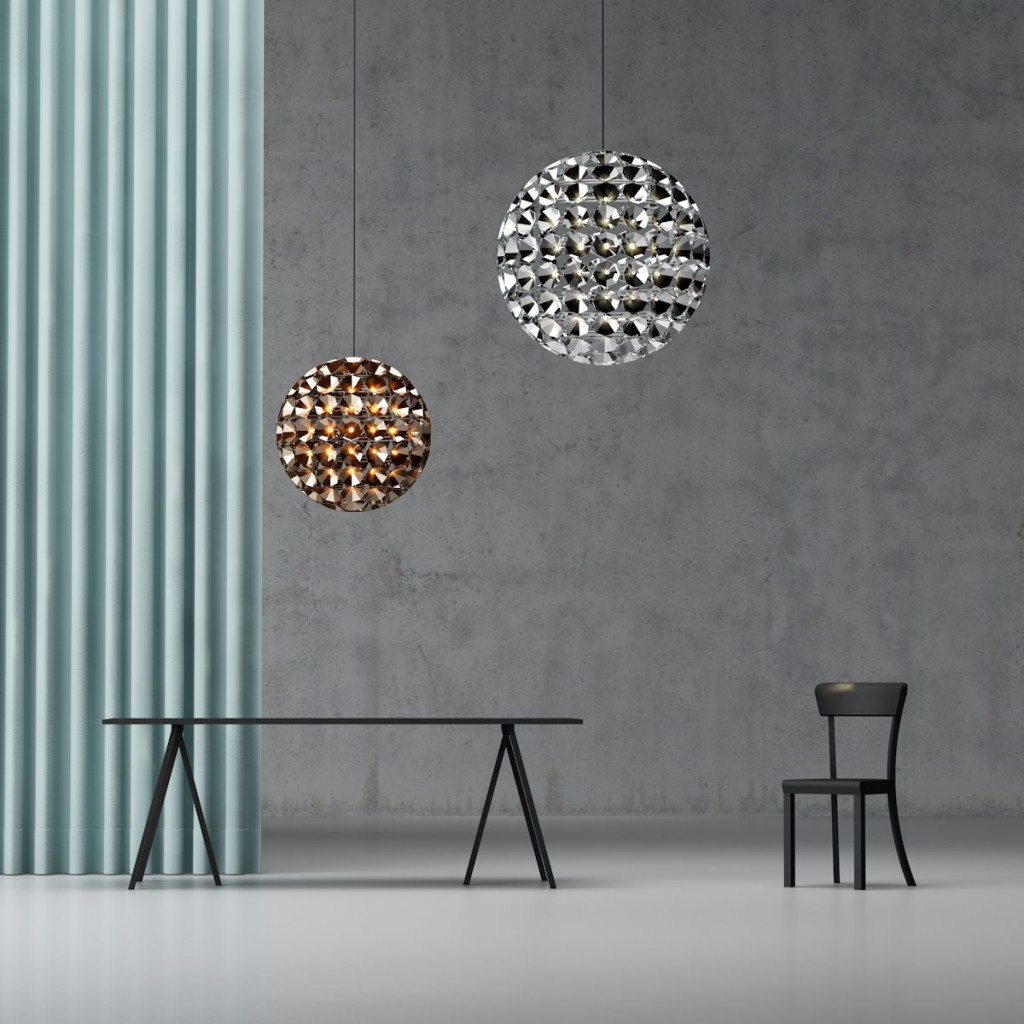 Ball-shaped Pendant Lamps by Daniel Becker